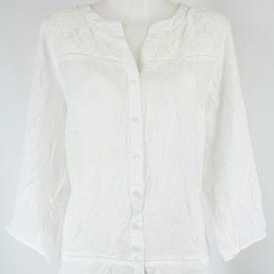 NWT NY Collection White Long Sleeve Size 1X